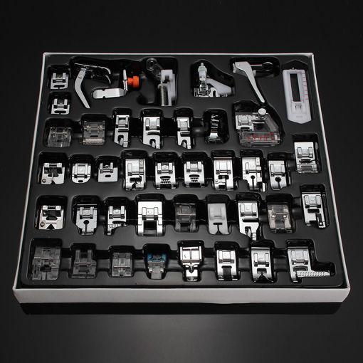 Immagine di 42 PCS Domestic Sewing Machine Foot Presser Feet Kit Sewing Machine Accessories