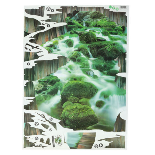 Picture of 3D Stream Floor Decor Wall Sticker Removable Mural Decals Vinyl Art Home Decoration
