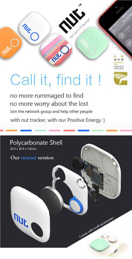 Immagine di Mini Smart Patch Alarm Tag Bluetooth Nut 2 Tracker Locator Anti Lost Key Finder For iPhone Android etc