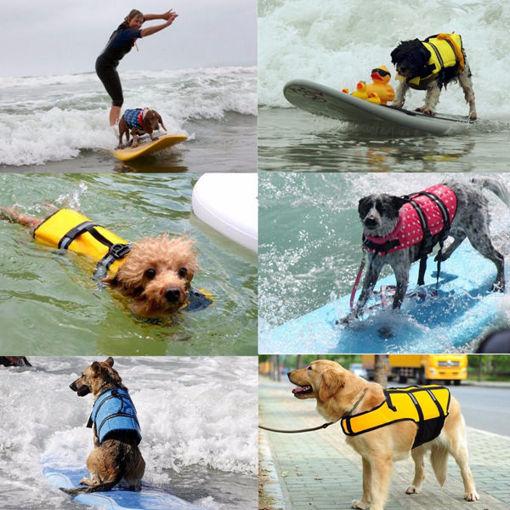 Immagine di XS Pet Aquatic Reflective Preserver Float Vest Dog Cat Saver Life Jacket New