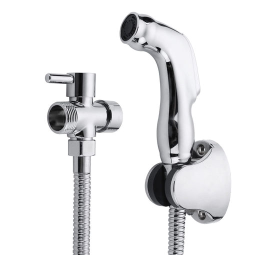 Picture of Hand Held Bidet Shattaf Wash Toilet Shower Head Set Bathroom Adapter Spray Jet