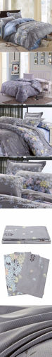 Picture of 3 Or 4pcs Rosemary Flower Reactive Printing Bedding Sets Pillowcase Quilt Duvet Cover