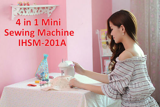 Picture of Portable Home Handwork Electric Mini Sewing Machine With Led Light