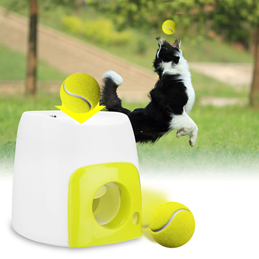 Picture of Pet Dog Launcher Tennis Ball Toys Fetch Thrower Throw Up Hyper Game Outdoor Toys