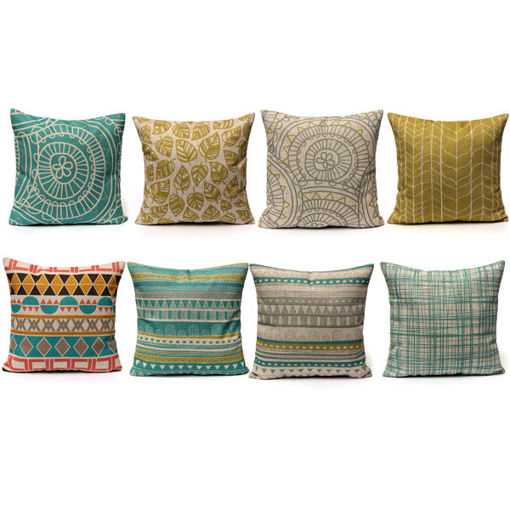 Picture of Minimalist Style Pillow Case Home Linen Cushion Cover Fashion Colorful Geometric Patterns